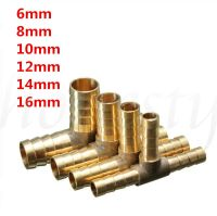 6~16mm Brass T Piece 3 Way Fuel Hose Connector For ...