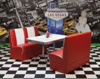 American Diner Furniture 50s Style Retro Booth Table And ...
