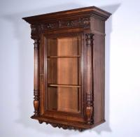 Antique French Wall/Display/Bar Cabinet in Walnut with ...