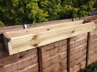 Over the Fence Panel - Hanging Balcony Wooden Planter ...