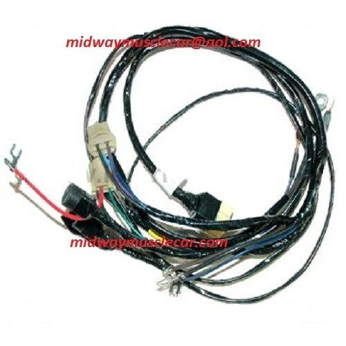 front headlight wiring harness w stock generator 56 Chevy 150 210