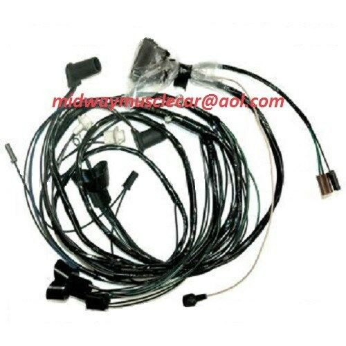 front end headlight lamp wiring harness 1970 70 Pontiac GTO eBay