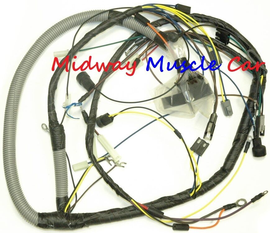 engine wiring harness 1974 74 Pontiac GTO Ventura console gauges