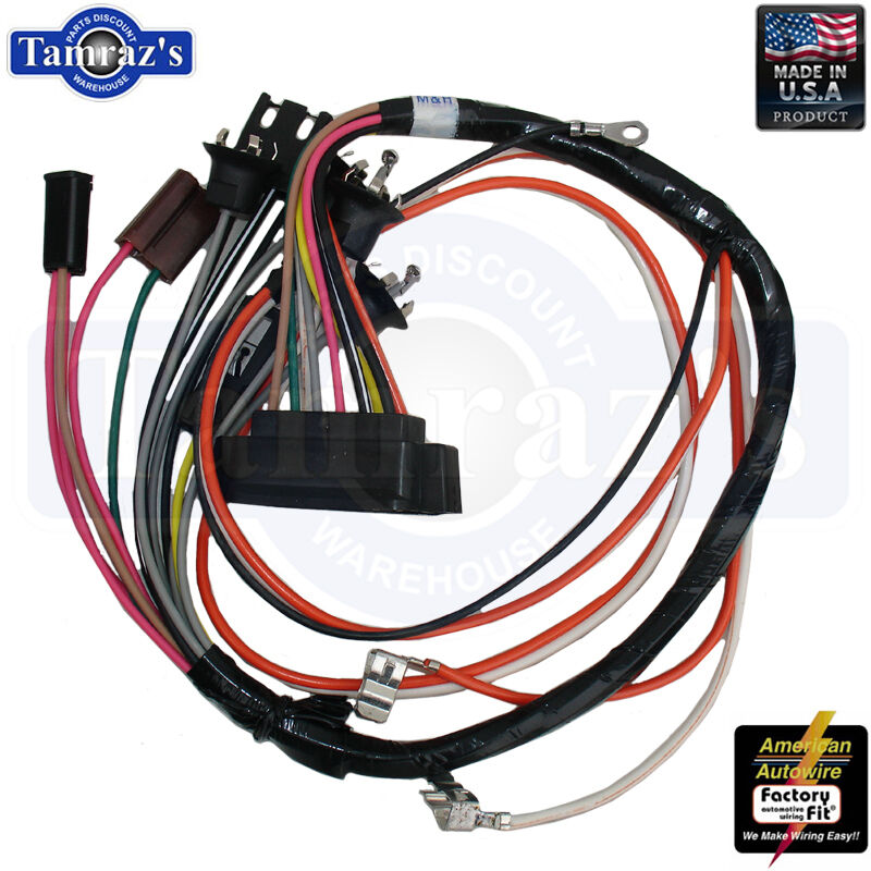 1968 Camaro Console Wiring Harness With Manual Transmission