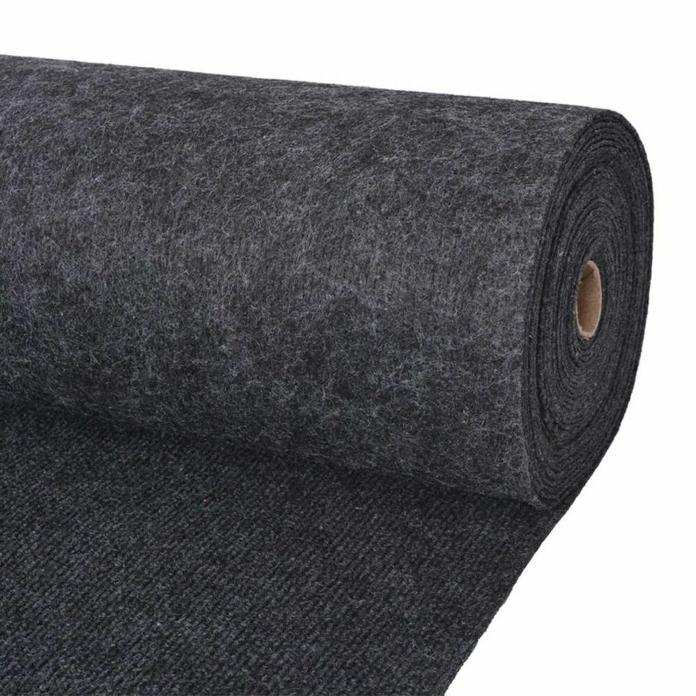 Commercial Rugs Vidaxl Exhibition Carpet Rib 2x10m Anthracite Commercial Wedding Party Rug Ebay
