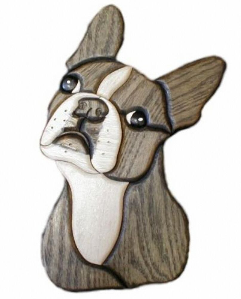 Arte En Madera Intarsia Silver Creek Boston Terrier 6