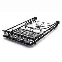Roof Luggage Rack 4 LED SPOT Light Bar for RC AXIAL SCX10 ...