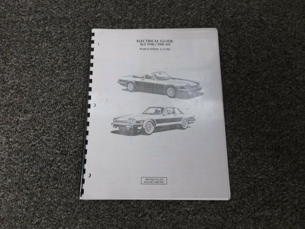 1990-1991 Jaguar XJ-S XJS Electrical Wiring Diagrams Manual Coupe