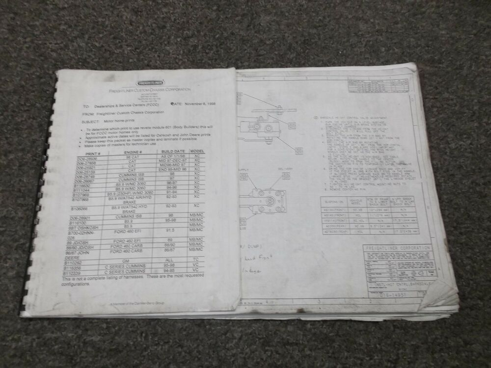 1992-1998 Freightliner XC RV Chassis Electrical Wiring Diagram