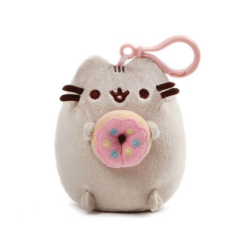 Cat Plush Toy Genuine 4060836 Gund Pusheen Cat Donut Clip 5in Plush Toy Stuffed Animals Doll 28399108039 Ebay