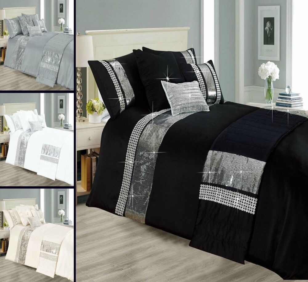 Biancheria Da Letto Ebay Sequence Style Star Lite 3 Piece Bedding Set 1 Duvet Quilt Cover 2