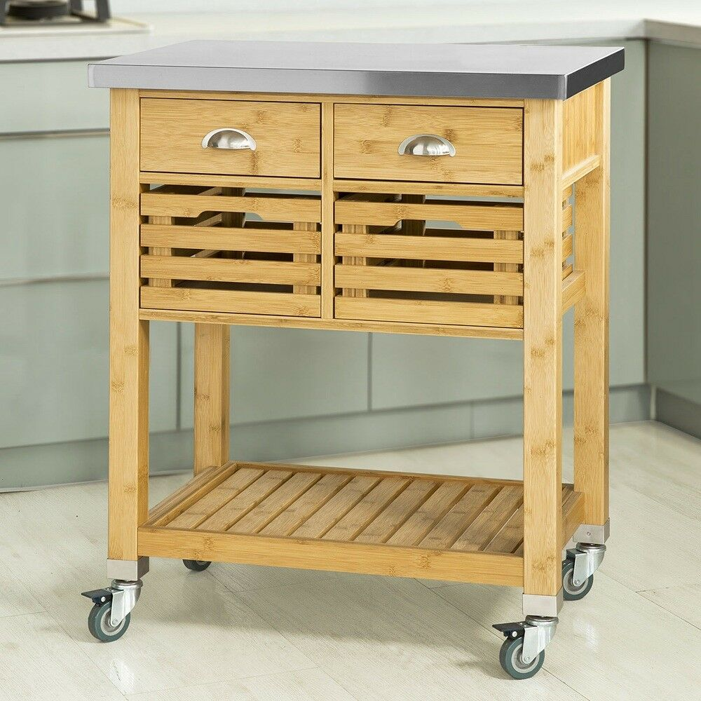 Sobuy Shop Sobuy Rolling Kitchen Trolley Cart Storage Cabinet With Drawers Fkw40 N Uk 6900021365475 Ebay