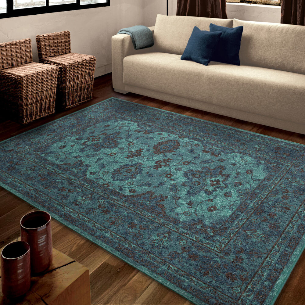 Teal Color Area Rugs 7x10 6 7