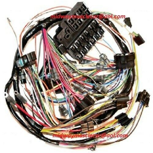 dash wiring harness 64 Chevy Corvette WITHOUT backup lights eBay