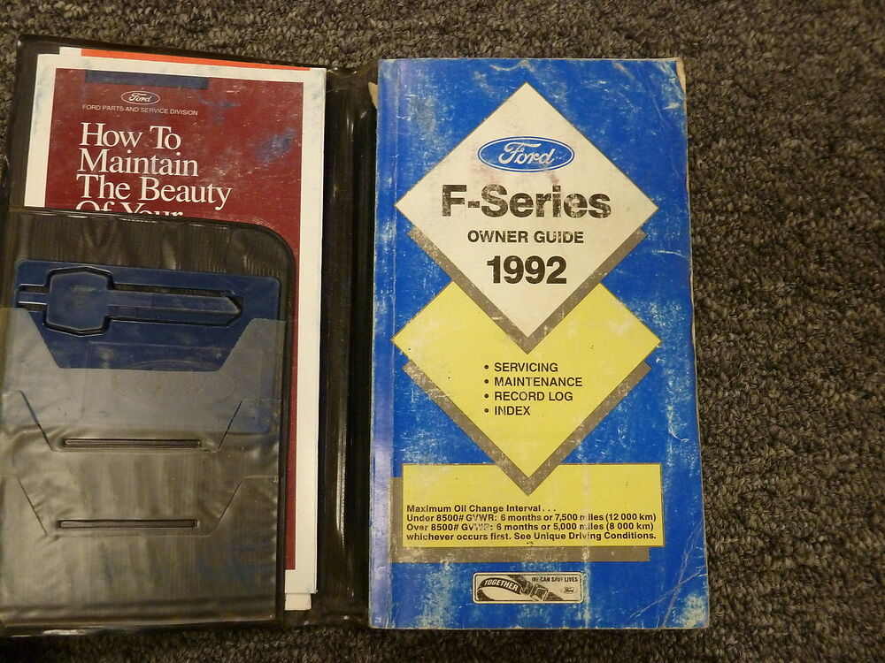 1992 Ford F150 Pickup Truck Owner Owner\u0027s Manual User Guide Book S