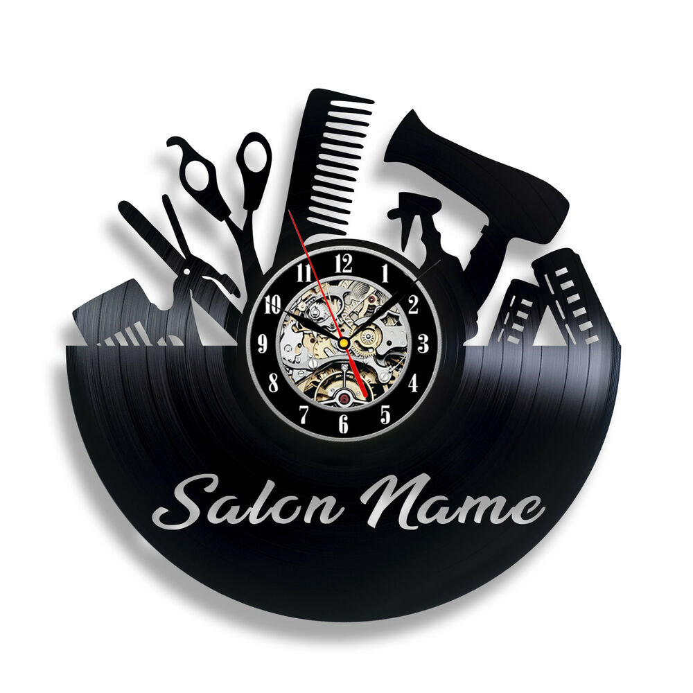 Special Clock Special Gift For Hairdresser Vinyl Record Wall Clock For Hair Beauty Salon Ebay
