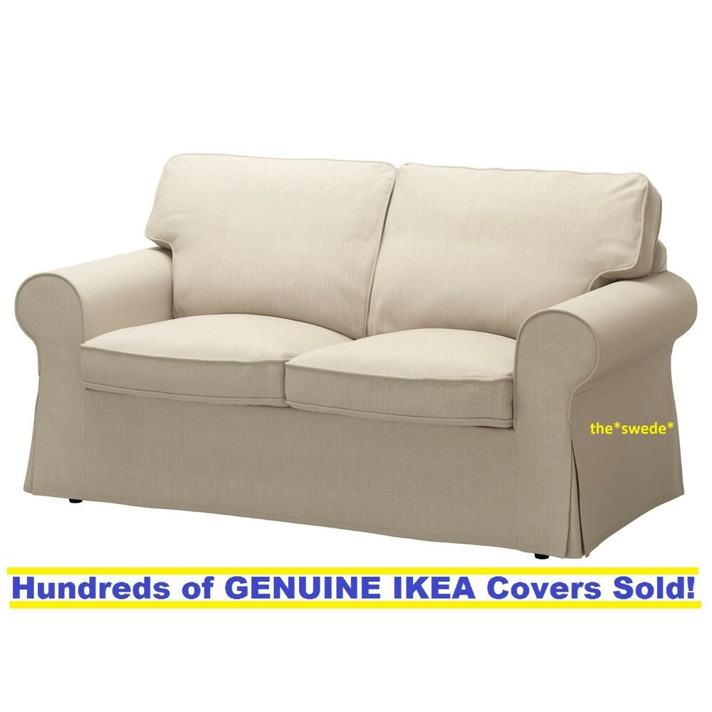 Bettsofa Ikea Ikea Ektorp Loveseat 2 Seat Sofa Cover Slipcover Nordvalla Dark Beige Sealed Ebay
