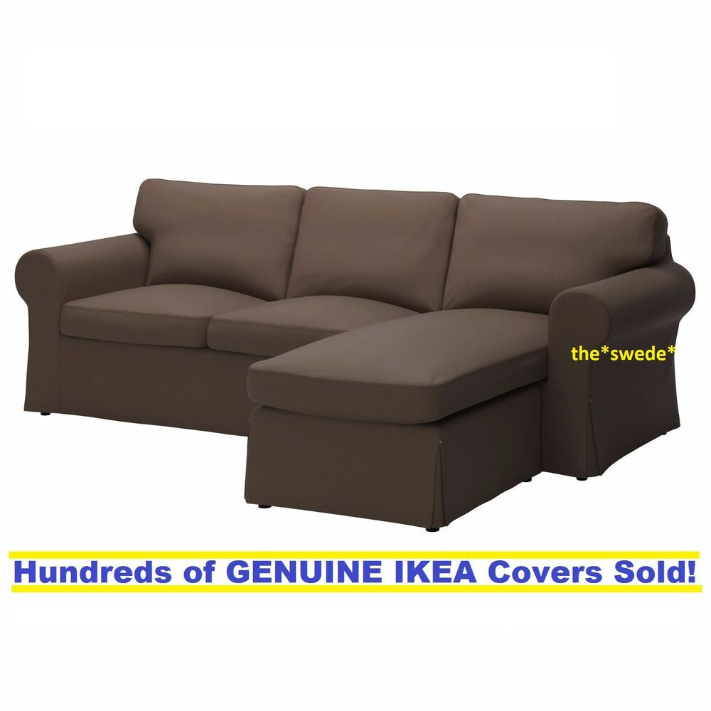 Loveseat Ikea Ikea Ektorp Loveseat W Chaise 3 Seat Sectional Slipcover Cover Jonsboda Brown Ebay