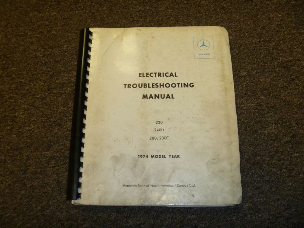 1974 Mercedes Benz 230 240d 280 280C Electrical Wiring Diagram