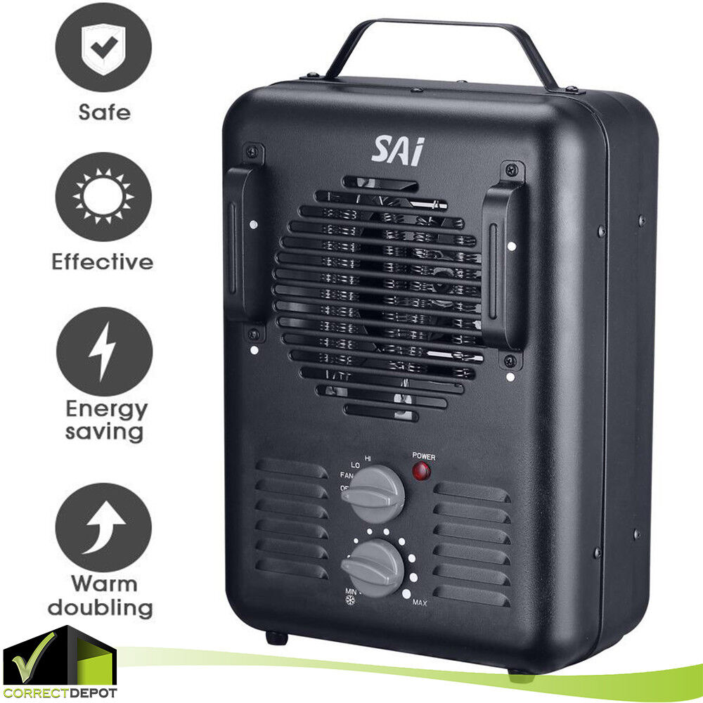 Garage Workshop Fan Portable Heater Electric Utility Garage Workshop Fan Heating Thermostat 1500w 819079020716 Ebay