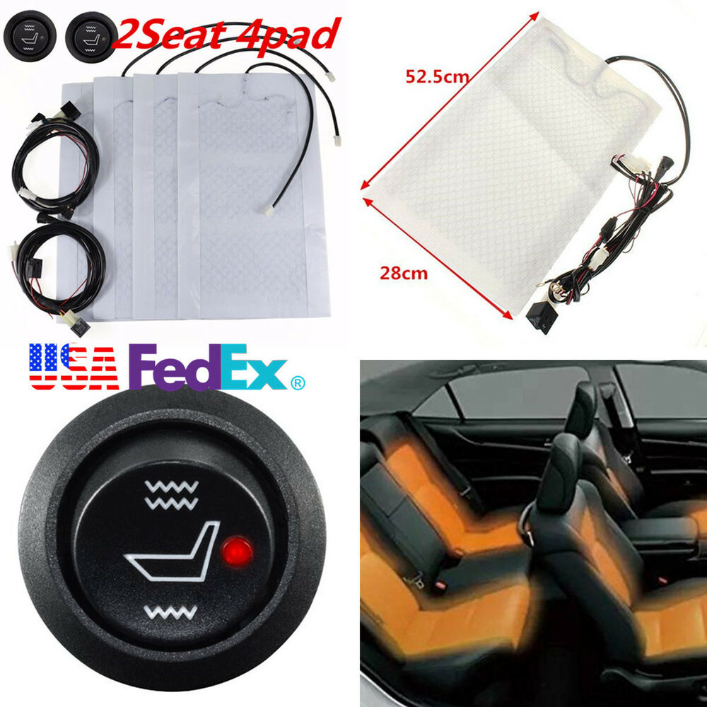 Garage Seat Lens 2 Seat Carbon Fiber Car Heated Seat Cushion Heater Kit12v Round High Low Switch 7970070190976 Ebay