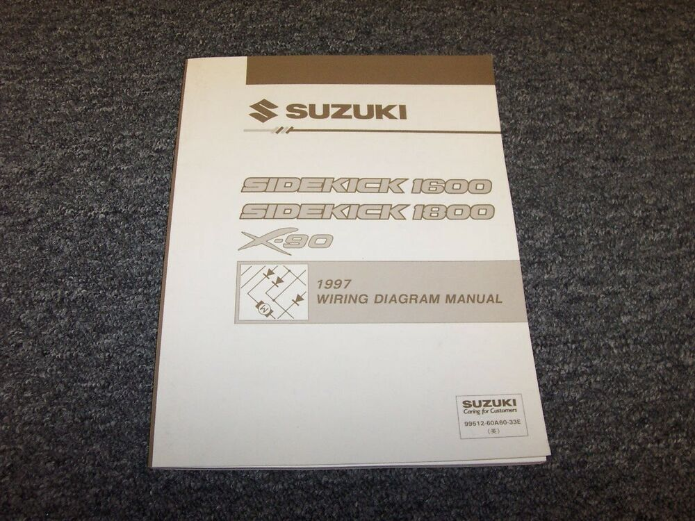 1997 Suzuki Sidekick 1600 1800  X-90 Wiring Diagram Manual SUV 16L