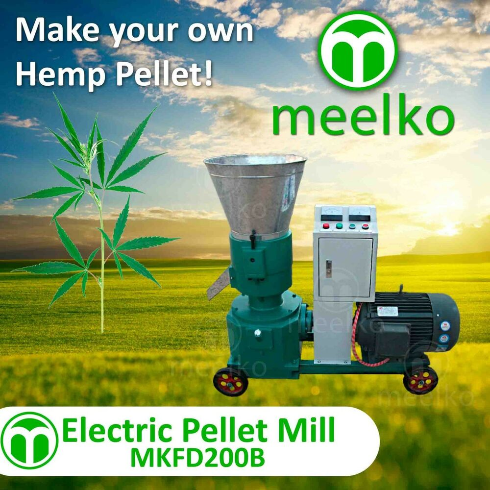 Pellet Kw Pellet Mill 7 5kw Electric Engine Pellet Hemp Ebay