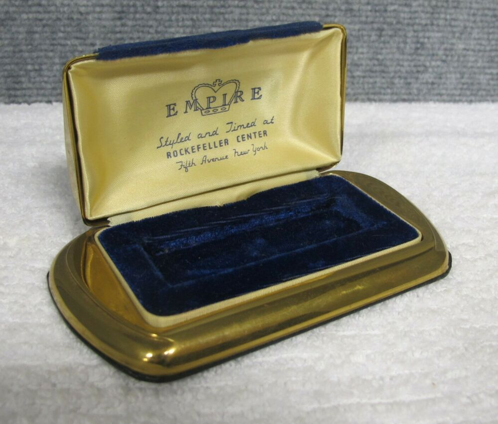 Art Deco Style Jewelry Boxes 1930 S Art Deco Empire Rockefeller Center 5th Ave Nyc Jewelry Box Watch Box Ebay