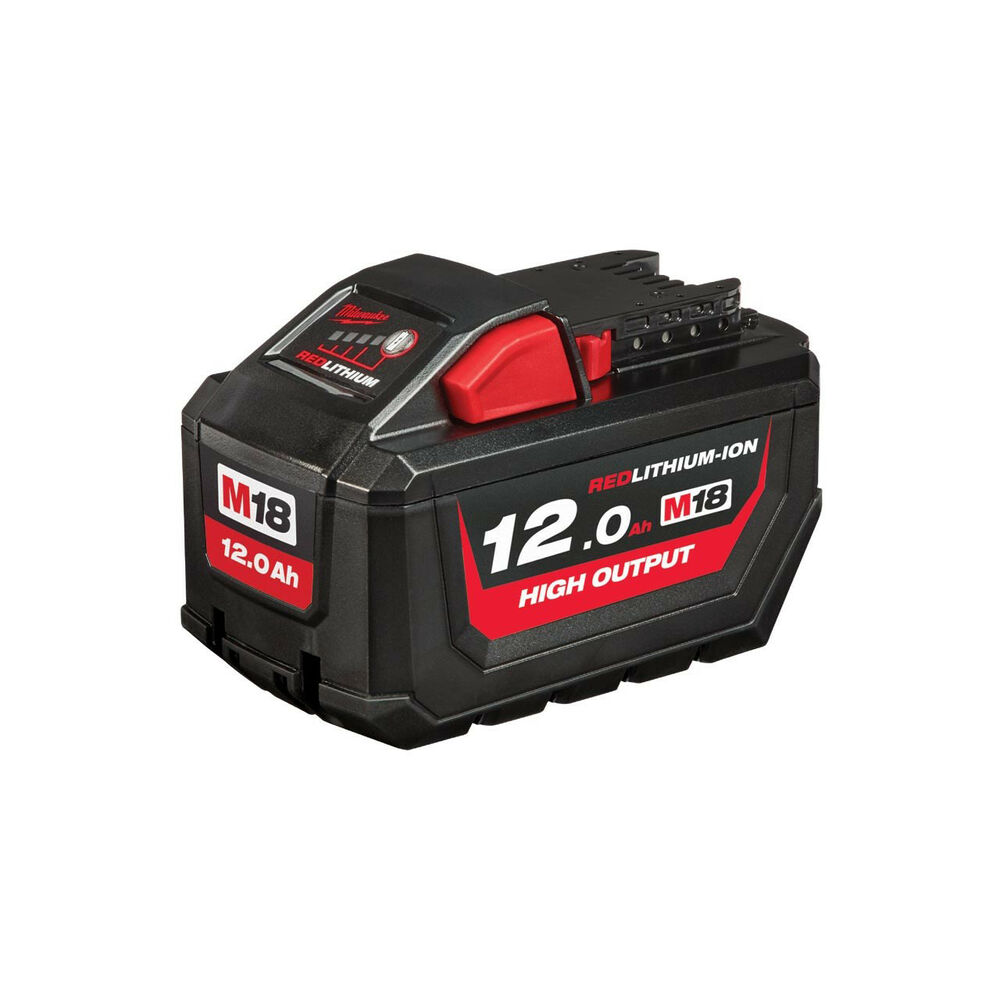 Milwaukee M18 Battery Milwaukee M18 Hb12 Battery 12 0ah Red Lithium 18v Very High Performance 12ah 4058546222055 Ebay