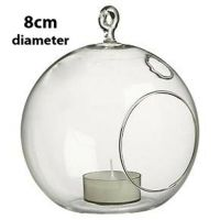 50 *10cm Glass Hanging ball tealight candle holder wedding ...