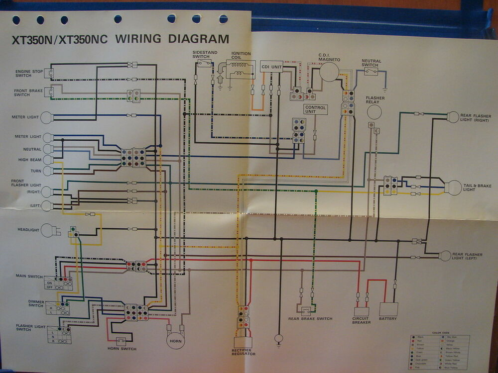 Yamaha Xt350 Wiring Diagram Wiring Diagramyamaha xt250 ... on