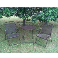 Bistro set Patio Set 3pc Table & Chairs Outdoor Furniture