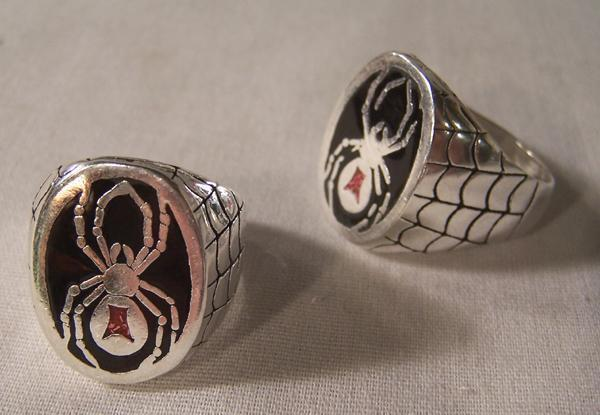 Bulk Jewelry To Sell Deluxe Black Widow Spider New Silver Biker Ring Br50 Mens