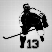 Hockey wall decor decal,vinyl youth Hockey player ...