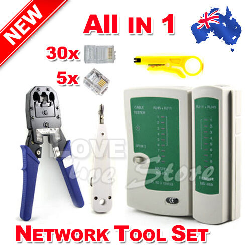 Network Ethernet LAN RJ11 RJ45 CAT5 CAT6 Cable Tester Wire Tracker