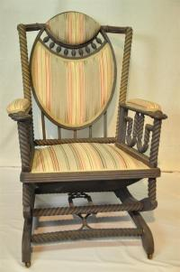 Original George Hunzinger Barley Twist Oak Platform Rocker ...
