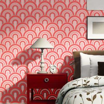 Wall Stencils Scallop Pattern Allover stencil for Painting better than wallpaper | eBay