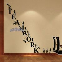 Teamwork Letters Wall Sticker Removable Decal Vinyl ...
