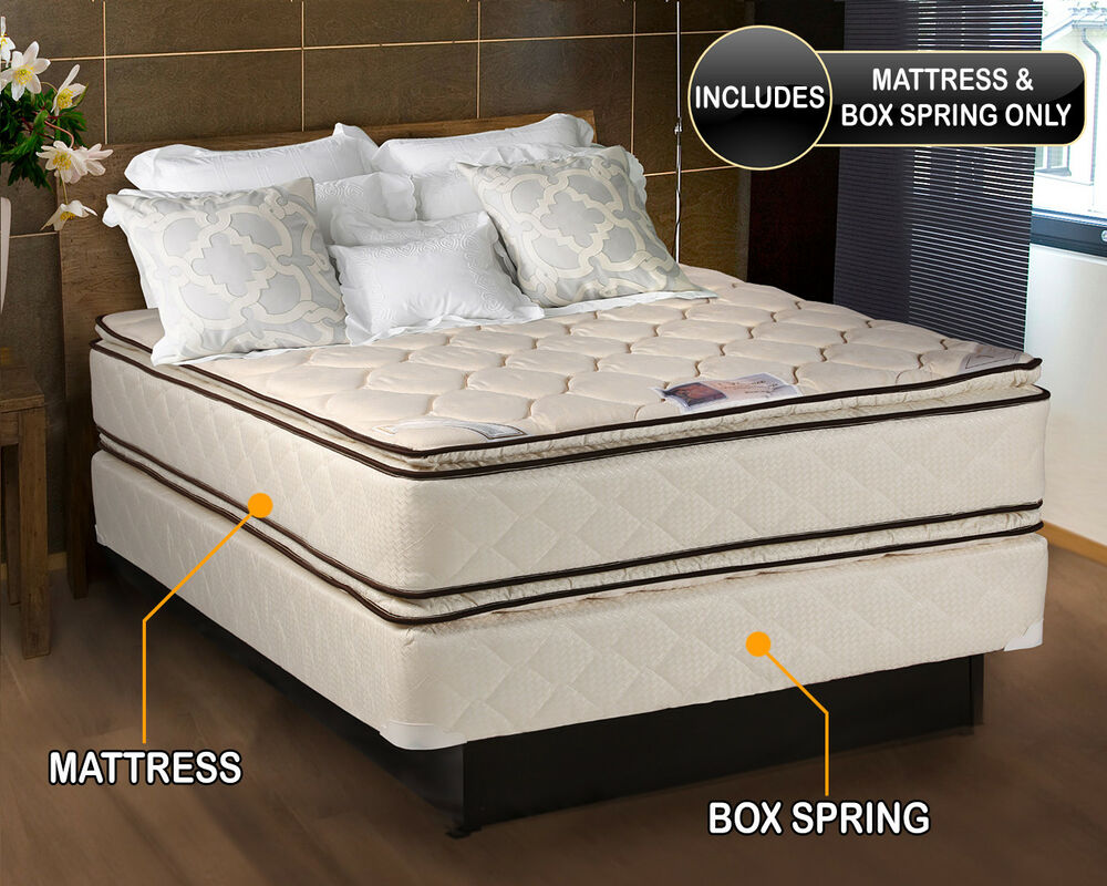 Bett Boxspring Coil Comfort Pillow Top Full Mattress And Box Spring Set