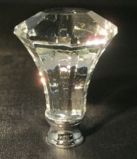 LAMP FINIAL-MODERN DIAMOND CRYSTAL LAMP FINIAL WITH POL ...
