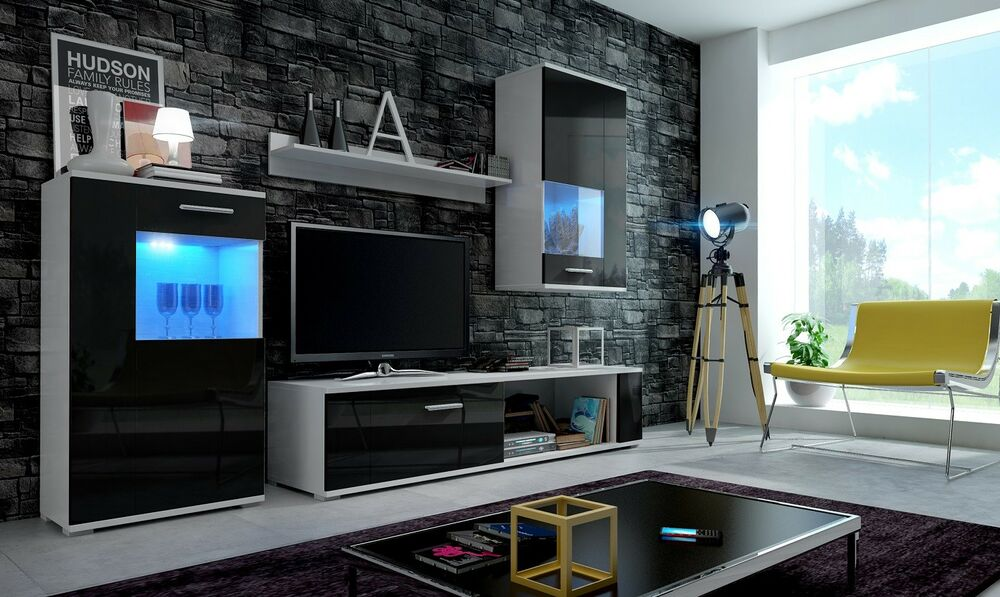 Mobili Soggiorno Ebay Living Room Furniture Set Tv Stand Cabinet Unit Cupboard Wall Mounted High Gloss Ebay