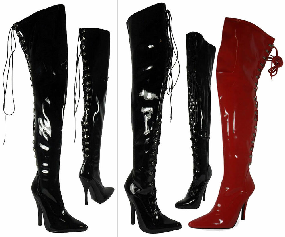 Womens Ladies Thigh High Over The Knee Boots Stiletto Heel