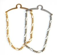 NEW Men's 4mm Tie Chain/Tack/Clip Gold/Silver Figaro Links ...