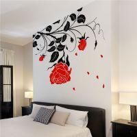 Large Flower Roses Vines Vinyl Wall Art Stickers / Wall ...