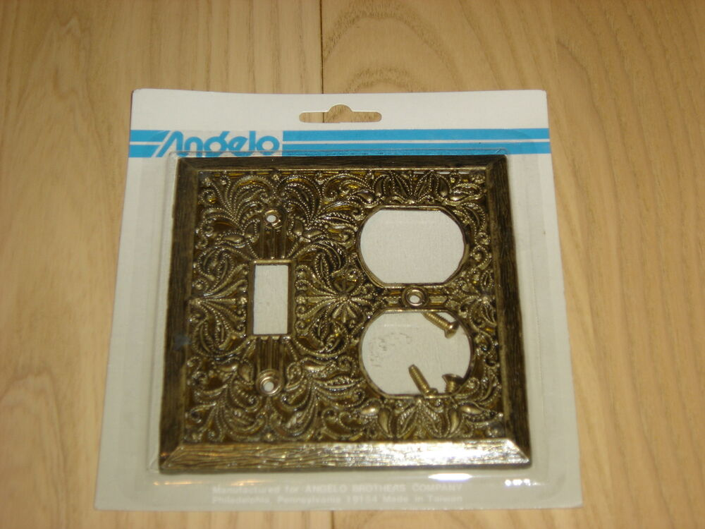 Decorative Outlet Covers Antique Brass Decorative Switch Plate Cover Outlet Combo