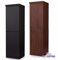 Tall Storage Cabinet Pantry Cupboard Organizer Wooden