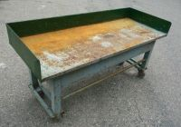 VINTAGE ROLLING INDUSTRIAL MACHINE AGE WORK TABLE/BENCH | eBay