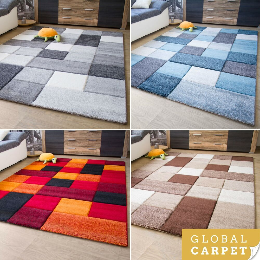 Quadratischer Teppich New Modern Rug Botiga Square Design Colourful Soft Quality