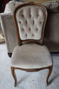 Antique Victorian Style Hand Carved Wood Parlor Chair | eBay