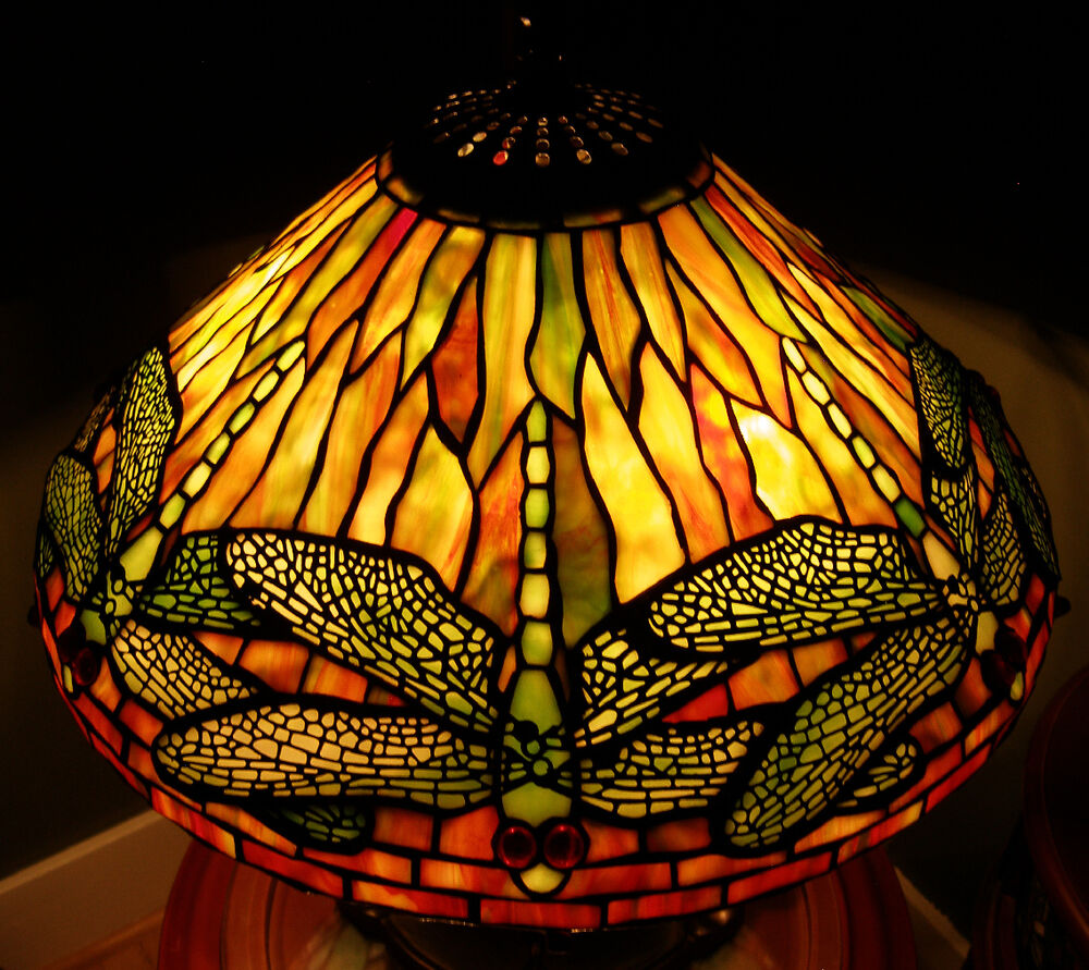 Quoizel Tiffany Reproduction Stained Glass Lamp Shade